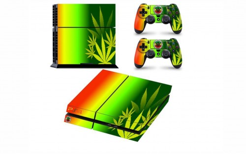 SKIN-NIT Decal Skin For PS4: Rasta Weed
