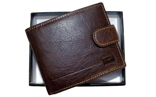 Fino Male Genuine Leather Wallet - Brown (Hl1301)