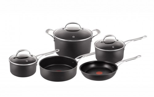 Jamie Oliver By Tefal - 8 Piece Hard Anodised Cookware Set
